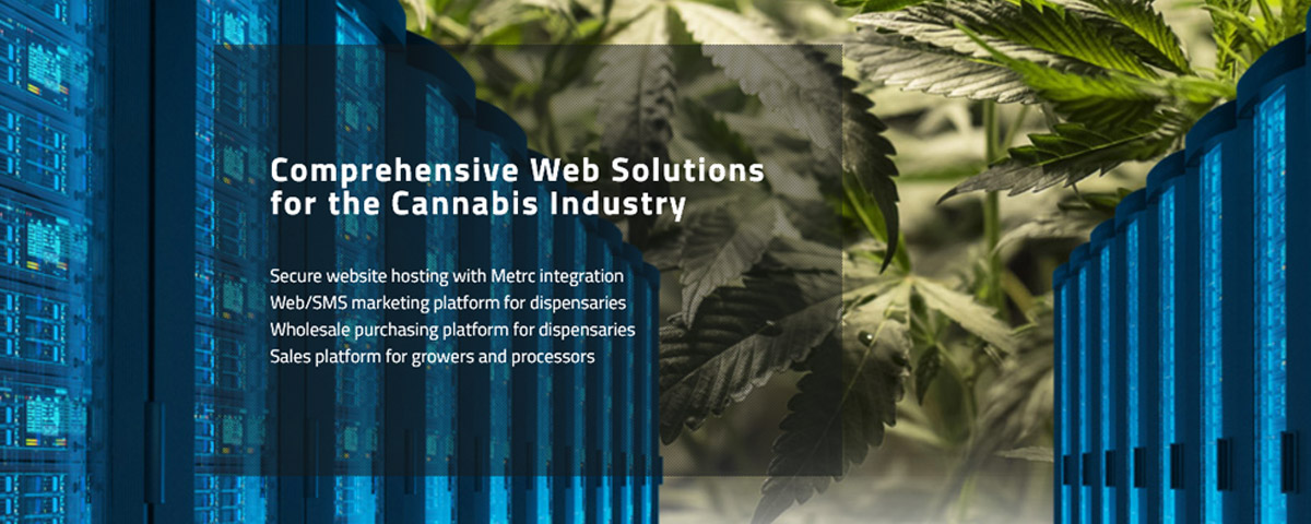Text advertising new cannabis software: Comprehensive web solutions for the cannabis industry